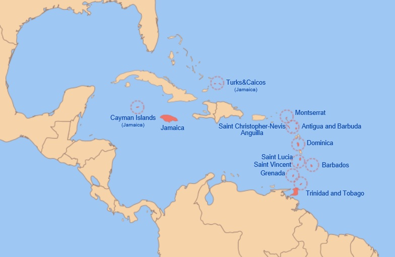 West Indies Federation Map